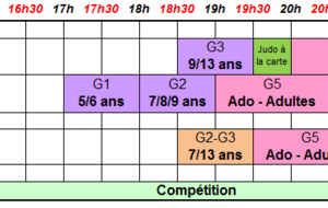Attention changement d'horaires à partie du 6 Mai 2019